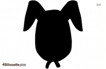 Black And White Cartoon Bunny Silhouette