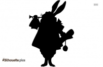 Rabbit Pose Silhouette For Download