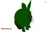 Wild Rabbit Silhouette Free Vector Art