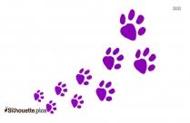 Raccoon Tracks Silhouette Clip Art