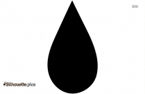 Cartoon Raindrop Silhouette