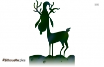 Winter Deer Silhouette Clip Art