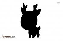 Free Christmas Reindeer Silhouette