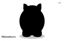 Cartoon Rhino Silhouette Drawing Image