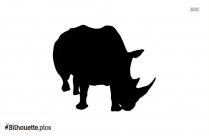 Black Hyena Cartoon Silhouette Image