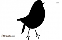 Blue Jay Bird Silhouette Clipart