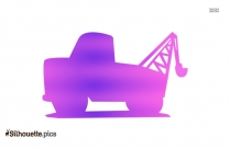 Tow Truck Vector Silhouette Icon