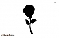 Cartoon Rose Silhouette Clipart