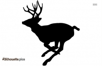Cute Cartoon Deer Silhouette Image