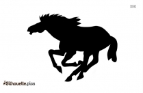Running Horse Silhouette Drawing