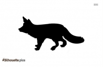 Cartoon Running Wolf Silhouette