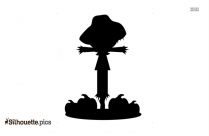 Cartoon Scarecrow Clipart Black And White