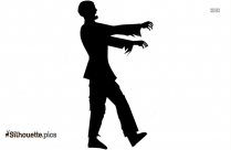 Cartoon Scary Zombie Silhouette
