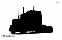 Cartoon Semi Truck Silhouette