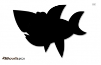 Cartoon Shark Silhouette Drawing