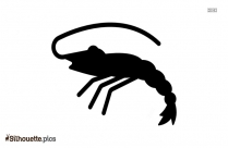 Prawn Symbol Silhouette