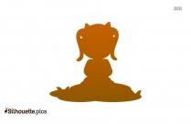 Girl Sitting Down Silhouette