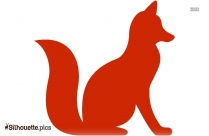 Cartoon Sitting Fox Cartoon Silhouette
