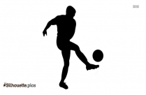 Playing Soccer Silhouette Drawing