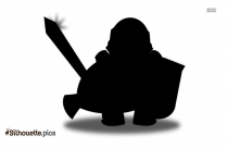 Funny Soldier Cartoon Silhouette Art