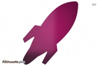 Cartoon Rocket Silhouette Image And Vector