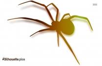 Cartoon Spider Clipart | Smaller Spider Silhouette