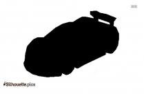 Cartoon Sports Car Silhouette