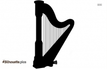 Oud Silhouette Drawing, String Instrument Clipart