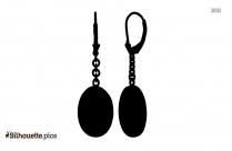 Stud Earrings Silhouette Art