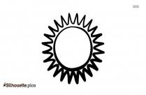 Half Sun Silhouette Art