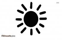 Half Sun Clipart Silhouette