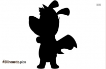 Cartoon Superhero And Dog Silhouette