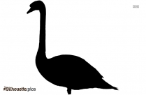 Swan Silhouette Clipart Images