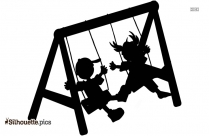 Cartoon Swing Silhouette Vector And Graphics
