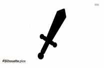 Black Dagger Silhouette Vector