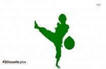 Taekwondo Kick Silhouette Clip Art