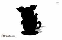 Cartoon Pig Silhouette Clip Art