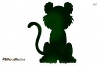 Cartoon Tiger Silhouette Icon