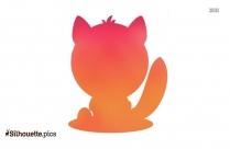 Tiger Kitten Cartoon Silhouette