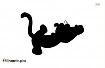 Cartoon Monkey Silhouette Clip Art