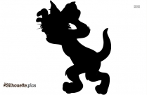 Cartoon Black Jerry Mouse Silhouette Image