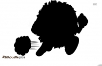 Cartoon Lion Running Silhouette