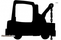 Tow Truck Vector Silhouette Image