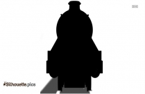 Steam Engine Train Silhouette Art