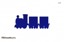 Cartoon Train Engine Silhouette Picture