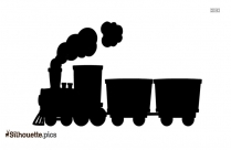 Free Cartoon Train Engine Silhouette Image