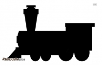 Black Toy Train Silhouette Image