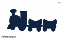 Toy Train Illustration Silhouette Image