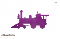 Cartoon Toy Train Silhouette, Image