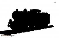 Cartoon Train Tender Molly Silhouette